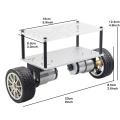 Self-Balancing Two-Drive 2wd DIY Robot Kit Car Chassis Frame Acrylic Aluminum Plate Free Couplings