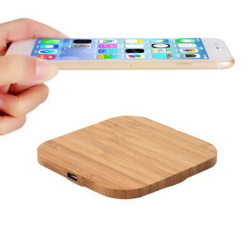 Wireless Phone Charging Station Wood Bamboo Wireless Charger