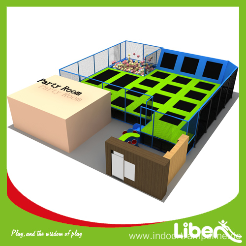 Popular large indoor cheap rectangle trampolines