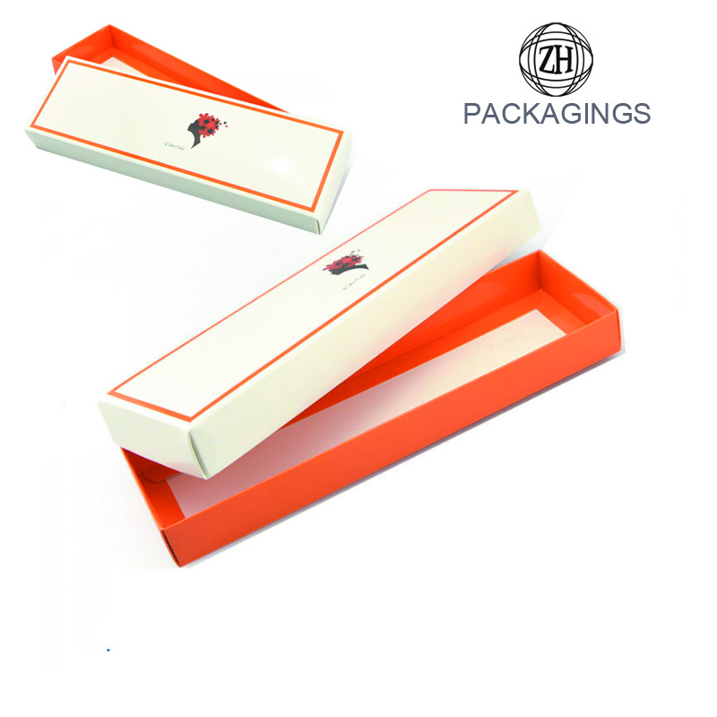 White logo print hair box packaging with lid