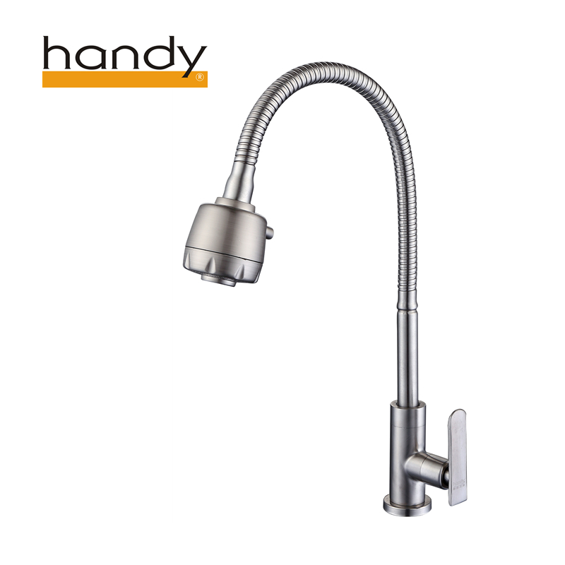 stainless steel vessel sink faucet