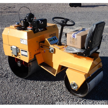 Double Drum Asphalt Road Roller Type Vibratory Mini Road Roller Compactor Price FYL-855