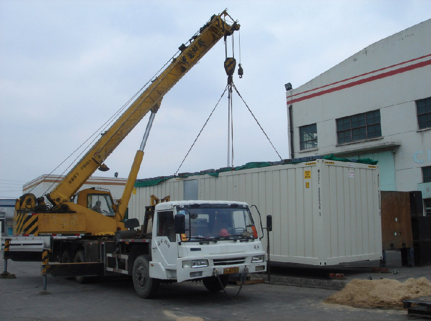 lifting test for Modular Family House Container Type