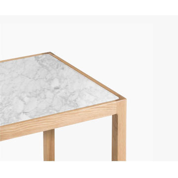 """Inkstone"" Marble Side Table Nest"