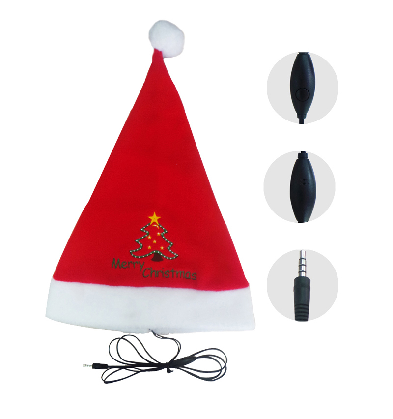 Christmas hat earphone