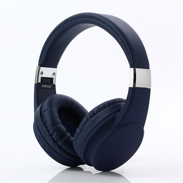 Popular foldable blue wireless bluetooth headphones