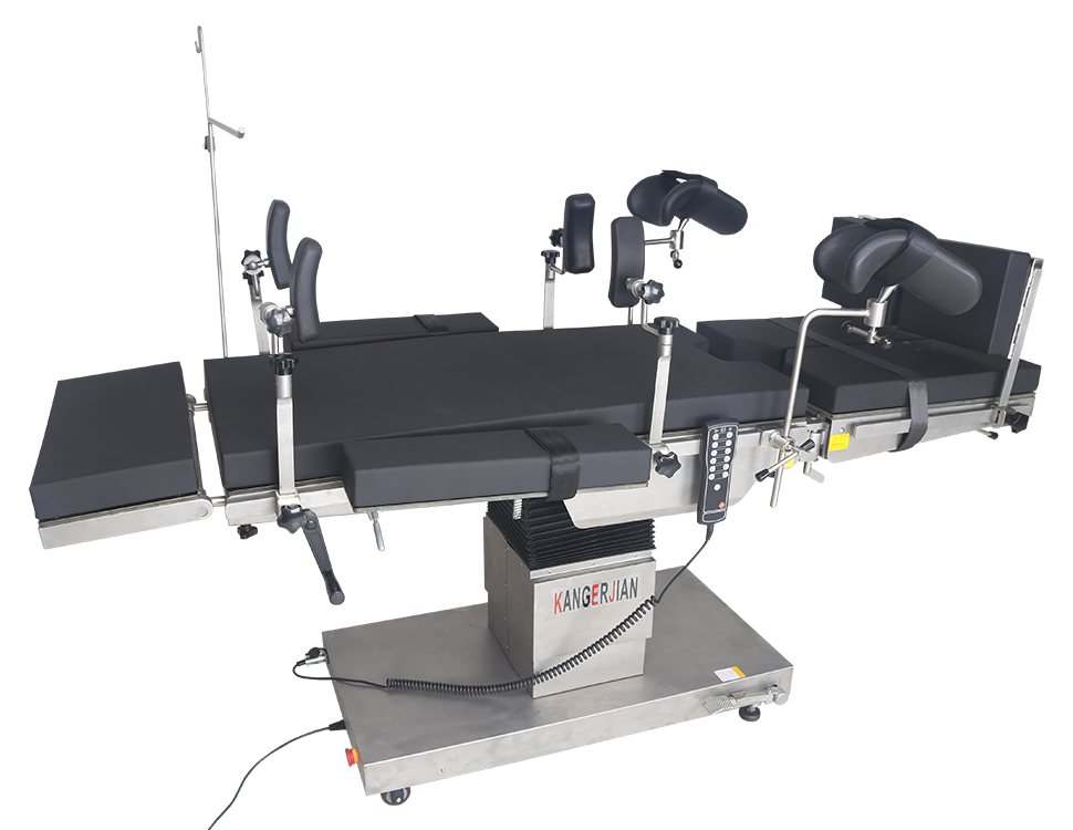 Integrated electric operating table