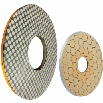 Diamond and CBN face grinding wheel for valveplate