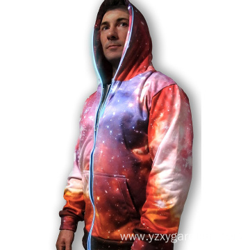 Pink 3D galaxy lights uo sweatshirt