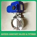 Sanitary Electric actuator butterfly valves weld end