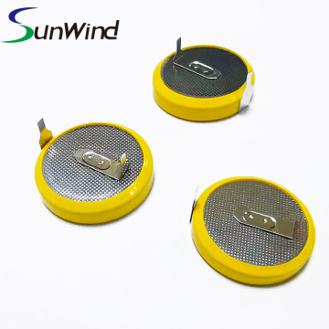 Disposable coin cell CR2450 battery with plate
