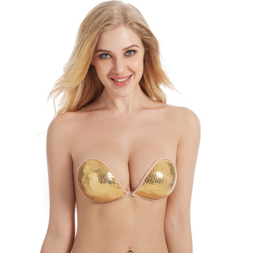 Stick On Front Buckle cloth bra