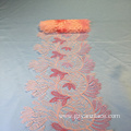 Pink Sewing Embroidery Wide Lace trim