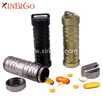 EDC survival sealed waterproof pill bottle