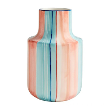 2020 new hand Painted matte color ceramic vase