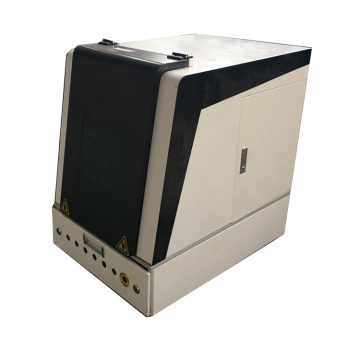 Enclosed fiber laser marking machine 30w for metal stainless steel