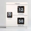 White Book Flip Clock for Decor