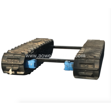 Rubber track chassis from 0.5Ton to 20Ton undercarriage system for Drilling Rigs excavator loader boat wetland