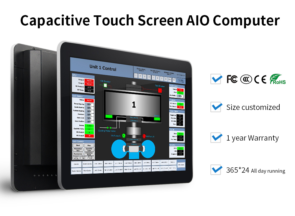 IP65 touch screen monitor