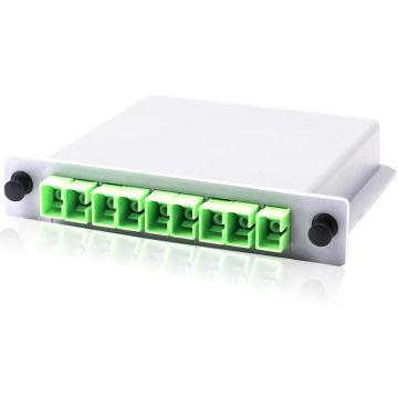 SC/APC 1x8 Fiber Optic Splitter Box Cassette Insertion Type 10pcs/lot Free Shipping