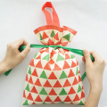 Red Triangle Pattern Christmas Series Non-woven Gift Bags