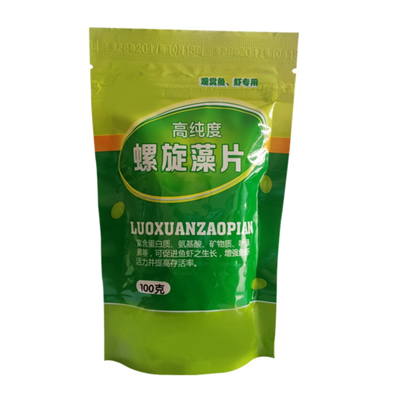 100/50g Ornamental Fish Piece-shaped Forages Healthy Ocean Nutrition Fish Food for Tropical Fish Spirulina Flakes