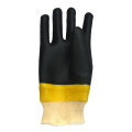 Yellow and Black PVC coated glove sandy finish