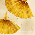 Art custom leaf shape amber crystal pendant light