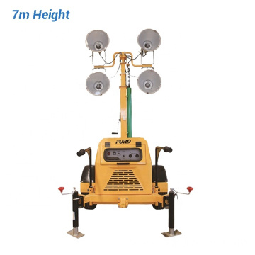 7M Manual High Mast Mobile Light Tower
