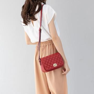 classic young ladies' leather messenger bag