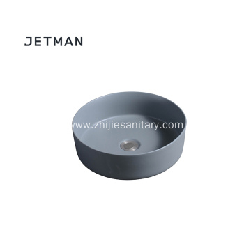 Dark grey color sink art basin ceramic