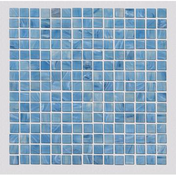 Blue glass mosaic for swimming pools and spas