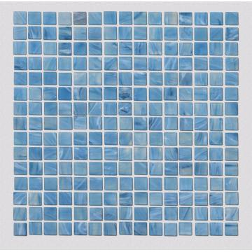 Glass Mosaic Tiles For Blue Swimming Pool Wall
