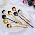 Korean Spoon Stainless Steel Small Circular Spoon