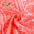Garment woven pigment printed rayon fabric for dress