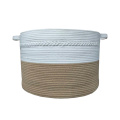EcoFriendly Cotton Rope Basket With Braided