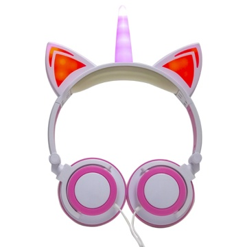 Multi color fashionable stereo led headphones for children