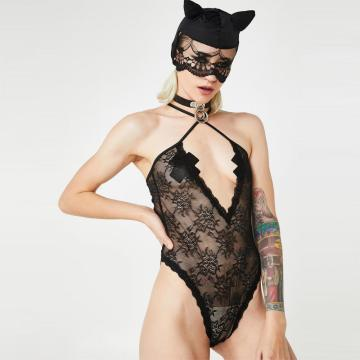 OEM full lace bodysuit with tie up back