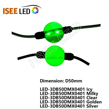 50MM 3D Effect Curtain String LED Ball Lights