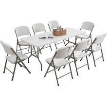 Factory Sale 8 People White HDPE Outdoor Table
