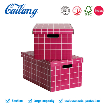 Rose Red Large Capacity Apparel Packaging Box