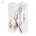 Japanese- oriental style 4 Panels white folding screen room divider with 2-way hinges