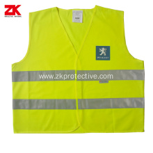 Yellow Roadway warning clothing with customized logo
