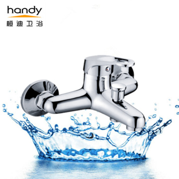 Single-handle tube hot and cold water mixer taps
