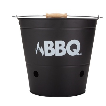 Round and Retangular BBQ Grill With Wood Handle