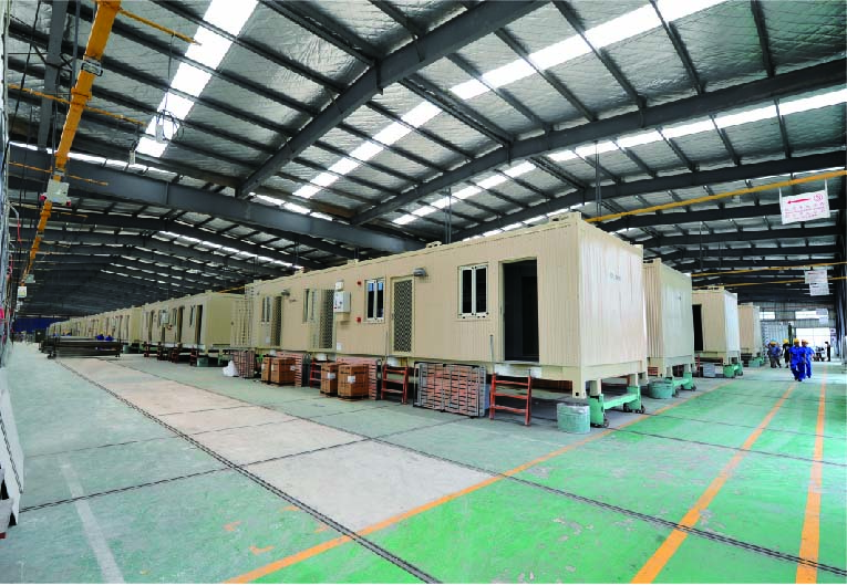 production line-3 for Modular Family House Container Type