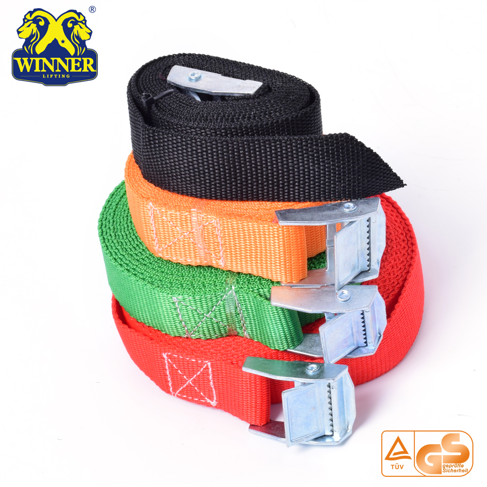 Hot Sale Heavy Duty Polyester Ratchet Buckle Cargo Lashing Belt