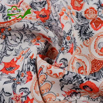 120D 30S woven garment viscose rayon floral fabric