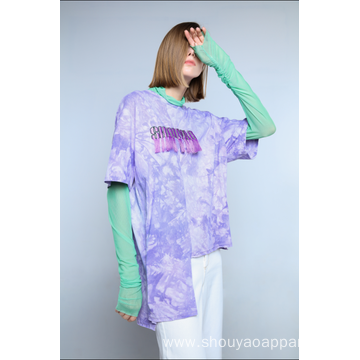 LADIES TIE DYE T-SHIRT