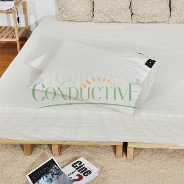 Organic Cotton Silver Earthing Grounding Pillowcase